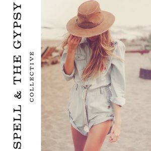 SPELL & THE GYPSY COLLECTIVE ROUTE 66 DENIM ROMPER